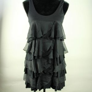 H&M Layered Ruffled Sleeveless Mini Dress